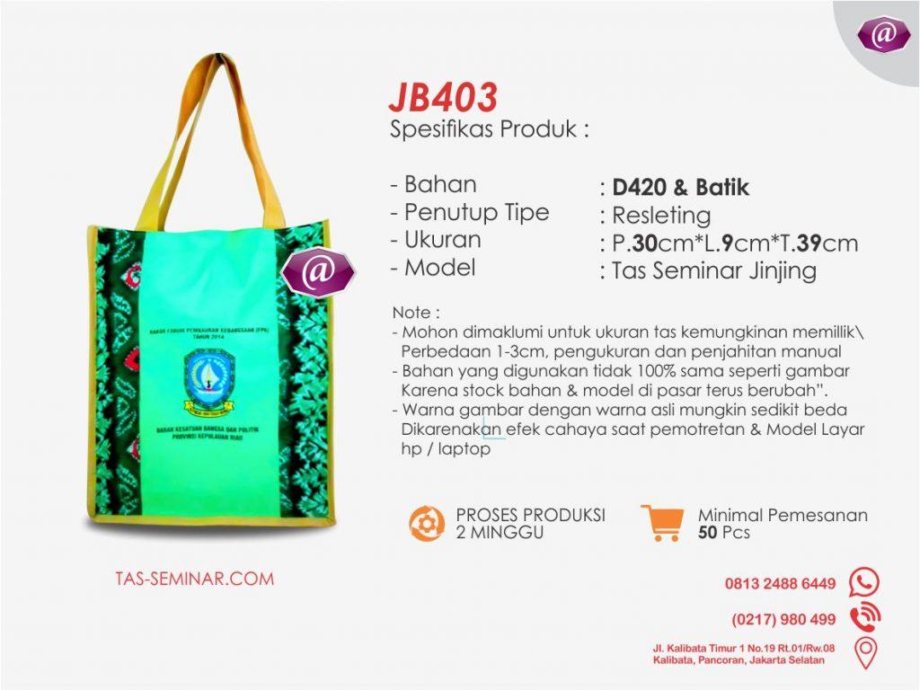 deskripsi tas seminar jinjing batik JB403 konveksi tas seminar jakarta