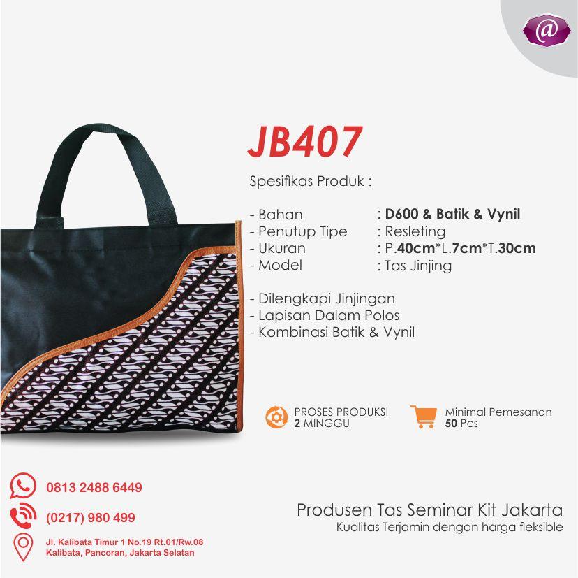 deskripsi tas seminar jinjing batik JB407 konveksi tas seminar jakarta