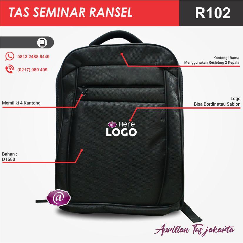 detail tas seminar ransel R102 grosir tas seminar jakarta