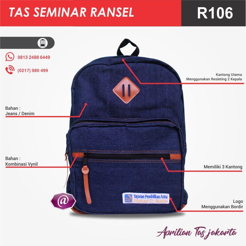 detail tas seminar ransel R106 grosir tas seminar jakarta