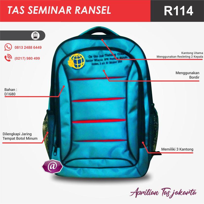 detail tas seminar ransel R114 pabrik tas seminar jakarta