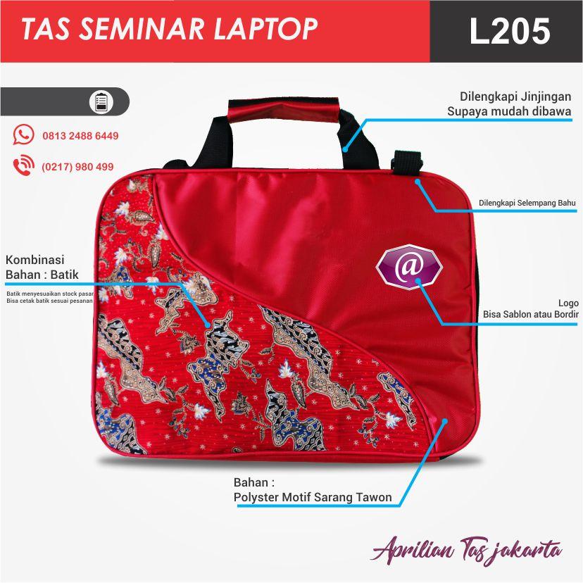 tas seminar laptop l205 konveksi tas seminar murah jakarta