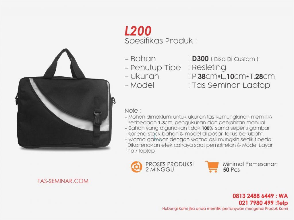 spesifikasi tas seminar laptop l200 konveksi tas seminar laptop
