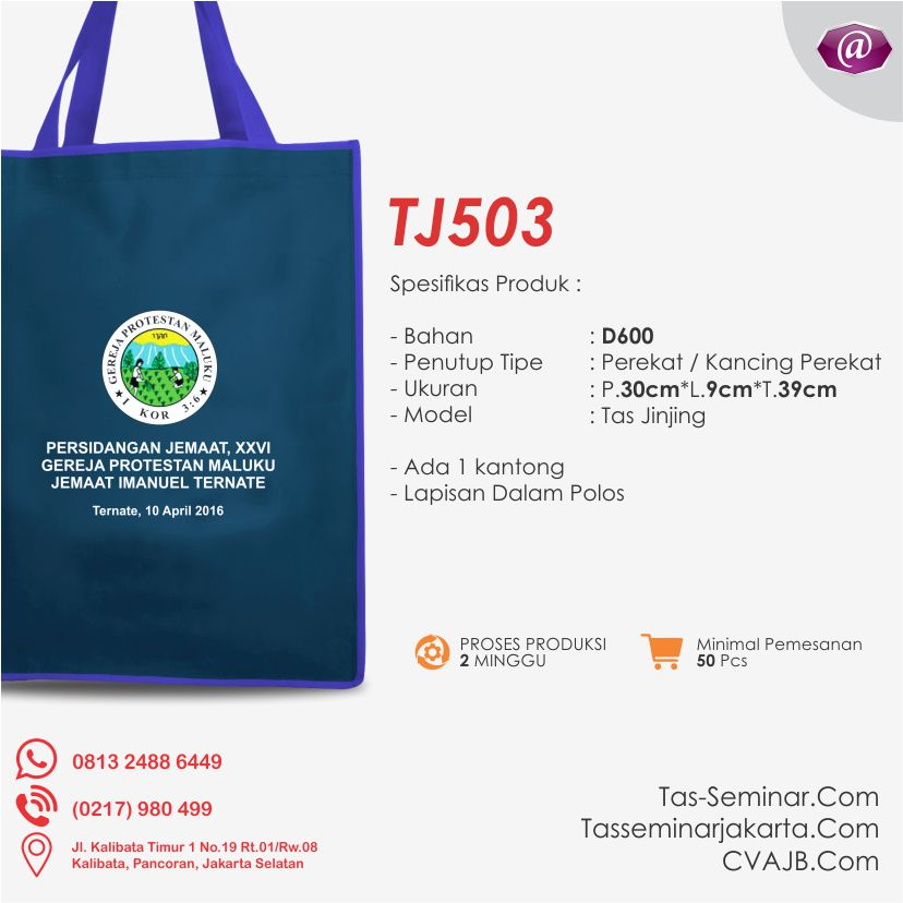 tas seminar jinjing TJ503 produsen tas seminar jakarta