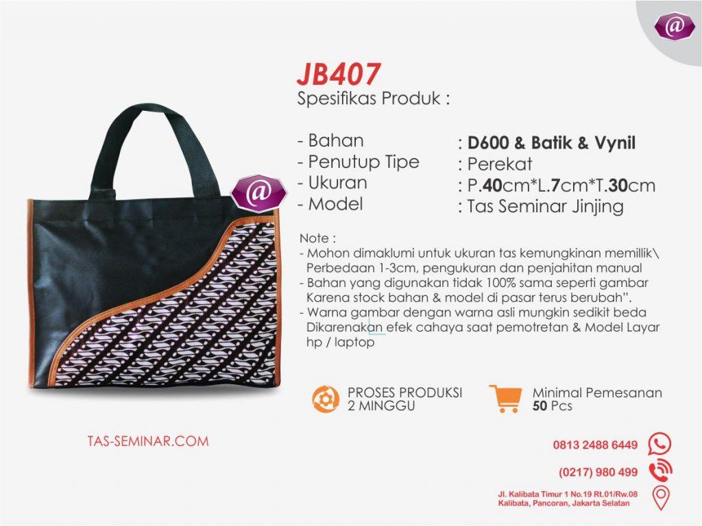 spesifikasi tas seminar jinjing batik JB407 produsen tas seminar jakarta