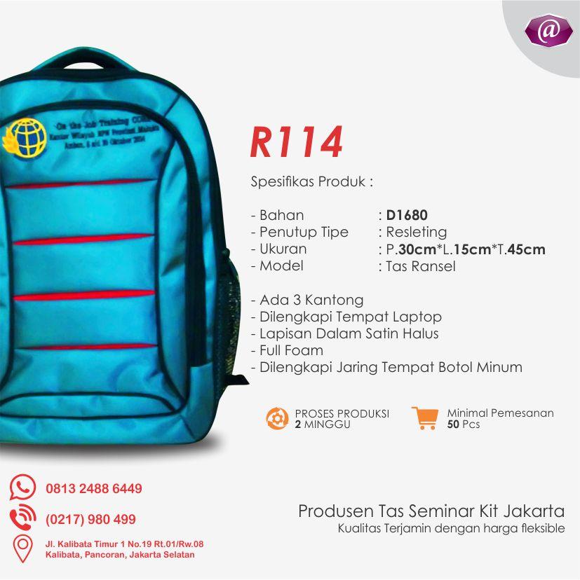 spesifikasi tas seminar ransel R114 grosir tas seminar jakarta