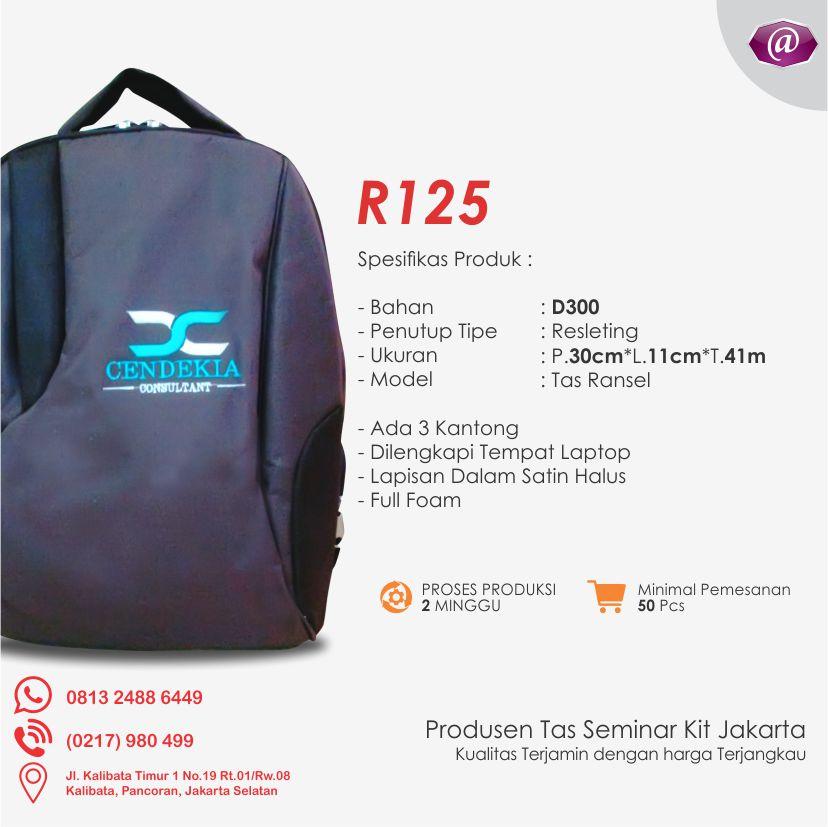 spesifikasi tas seminar ransel R125 grosir tas seminar jakarta