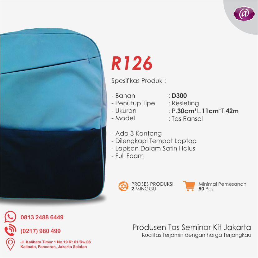 spesifikasi tas seminar ransel R126 grosir tas seminar jakarta