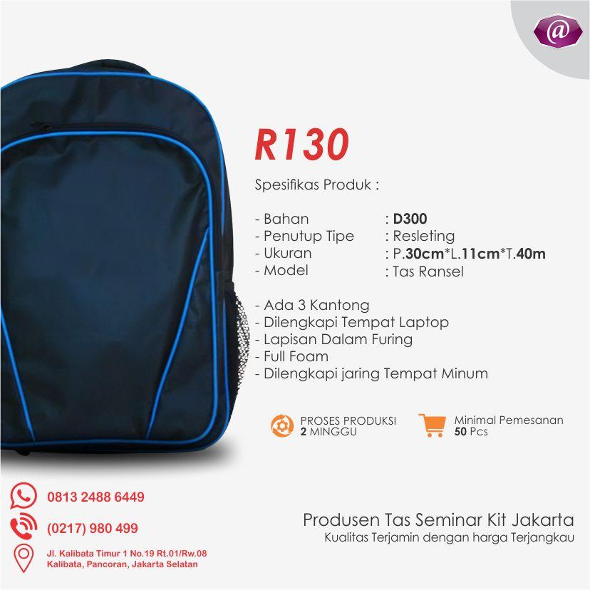 spesifikasi tas seminar ransel R130 grosir tas seminar jakarta