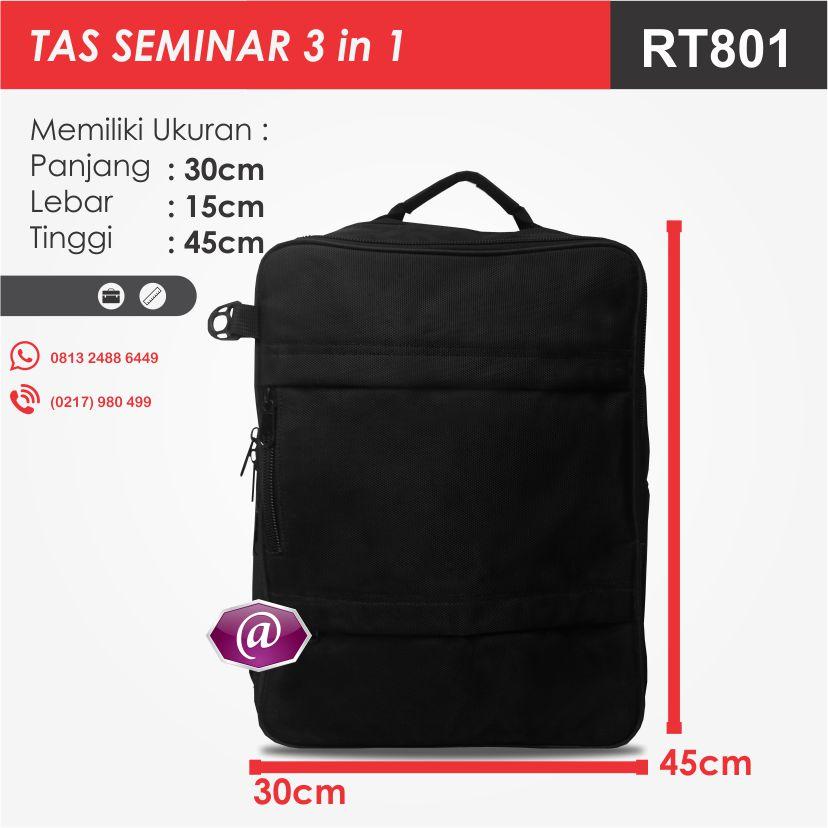 ukuran tas seminar 3 in 1 RT801 produsen tas seminar jakarta
