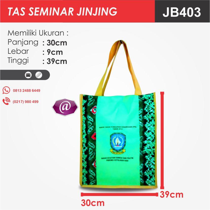 ukuran tas seminar jinjing batik JB403 pesan tas seminar jakarta
