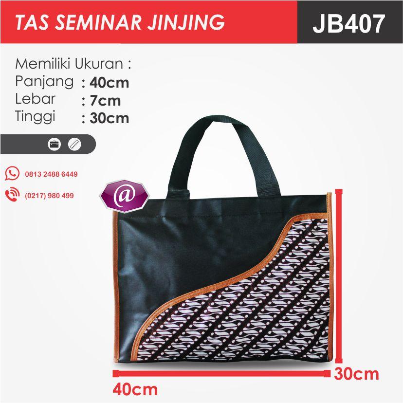 ukuran tas seminar jinjing batik JB407 pabrik tas seminar jakarta
