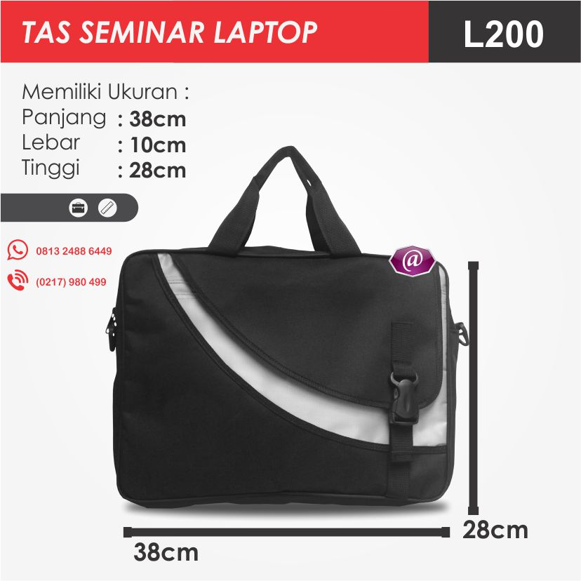 ukuran tas seminar laptop l200 grosir tas seminar jakarta