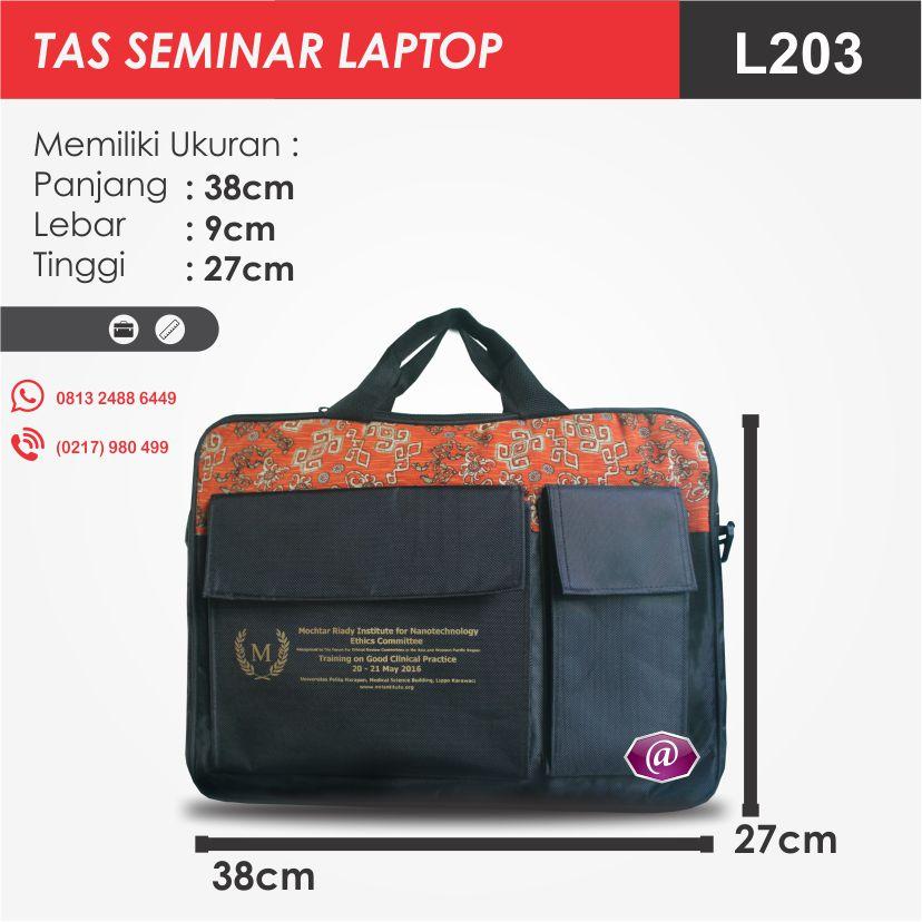 ukuran tas seminar laptop l203 produsen tas seminar jakarta