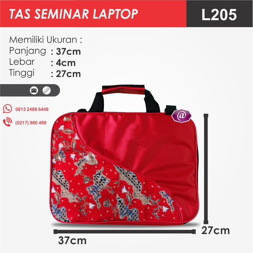 ukuran tas seminar laptop l205 konveksi tas seminar jakarta