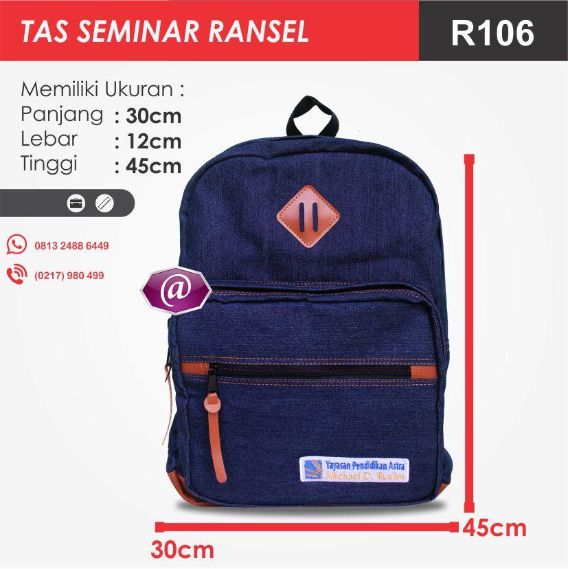 ukuran tas seminar ransel R106 pesan tas seminar jakarta