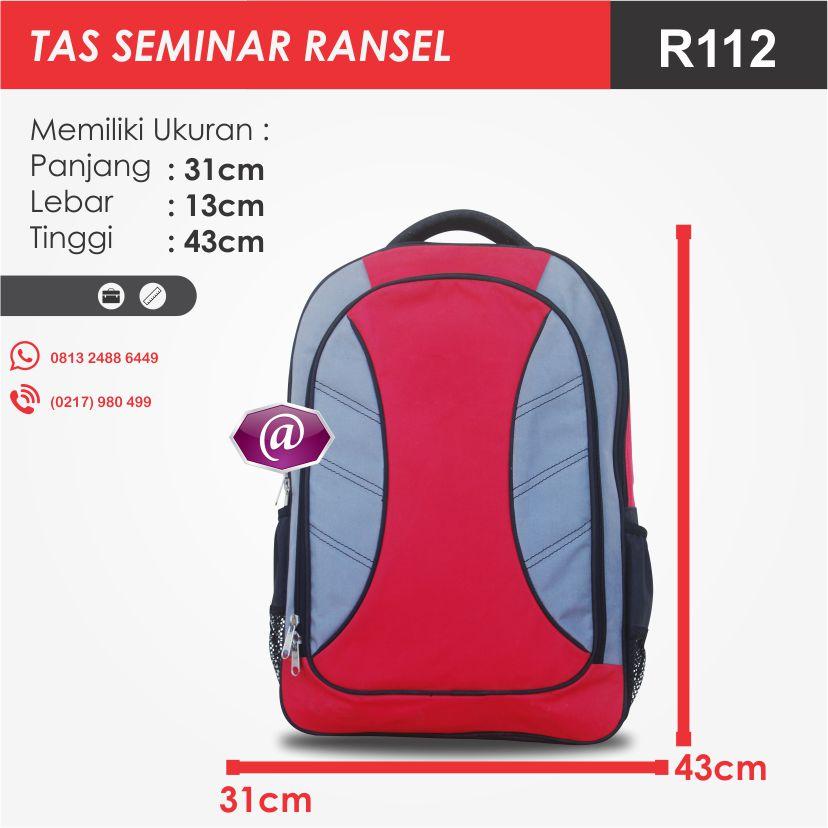ukuran tas seminar ransel R112 pesan tas seminar jakarta