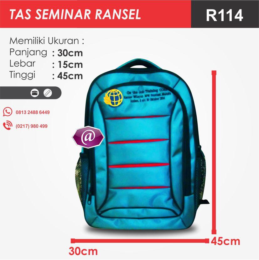 ukuran tas seminar ransel R114 pesan tas seminar jakarta