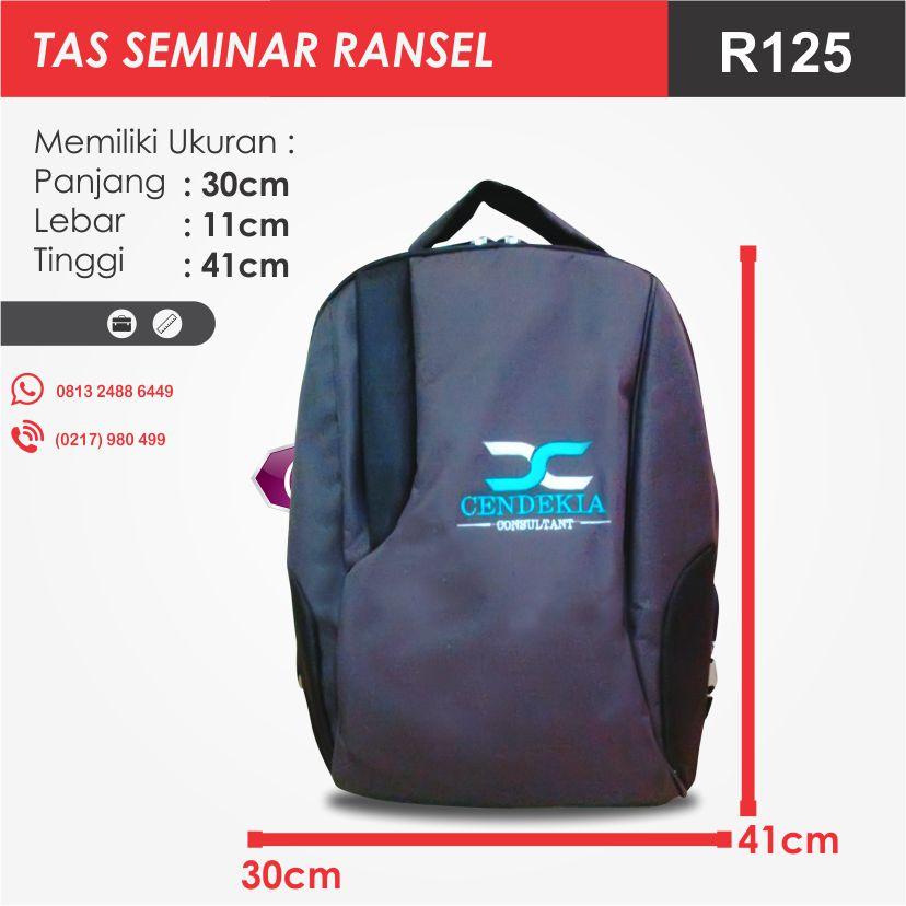 ukuran tas seminar ransel R125 pesan tas seminar jakarta