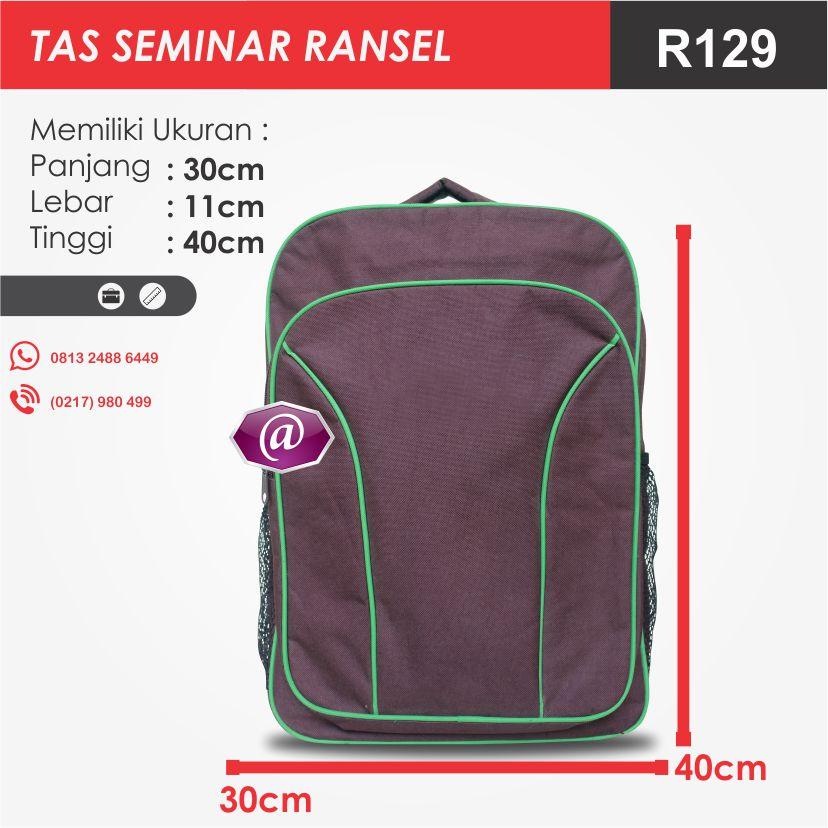 ukuran tas seminar ransel R129 pesan tas seminar jakarta