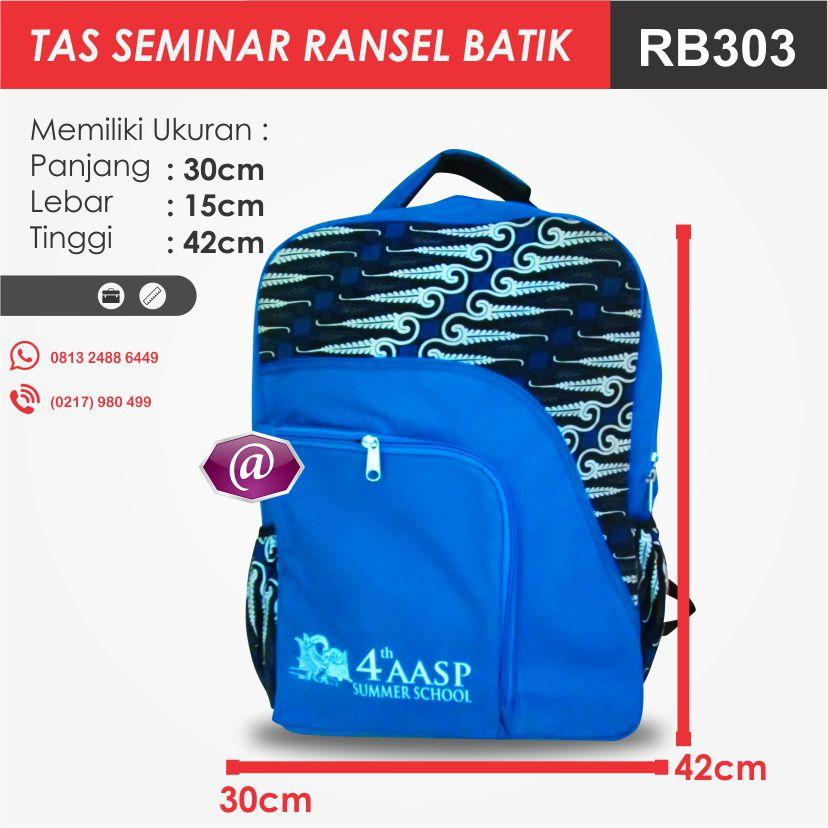 ukuran tas seminar ransel batik RB303 pesan tas seminar jakarta