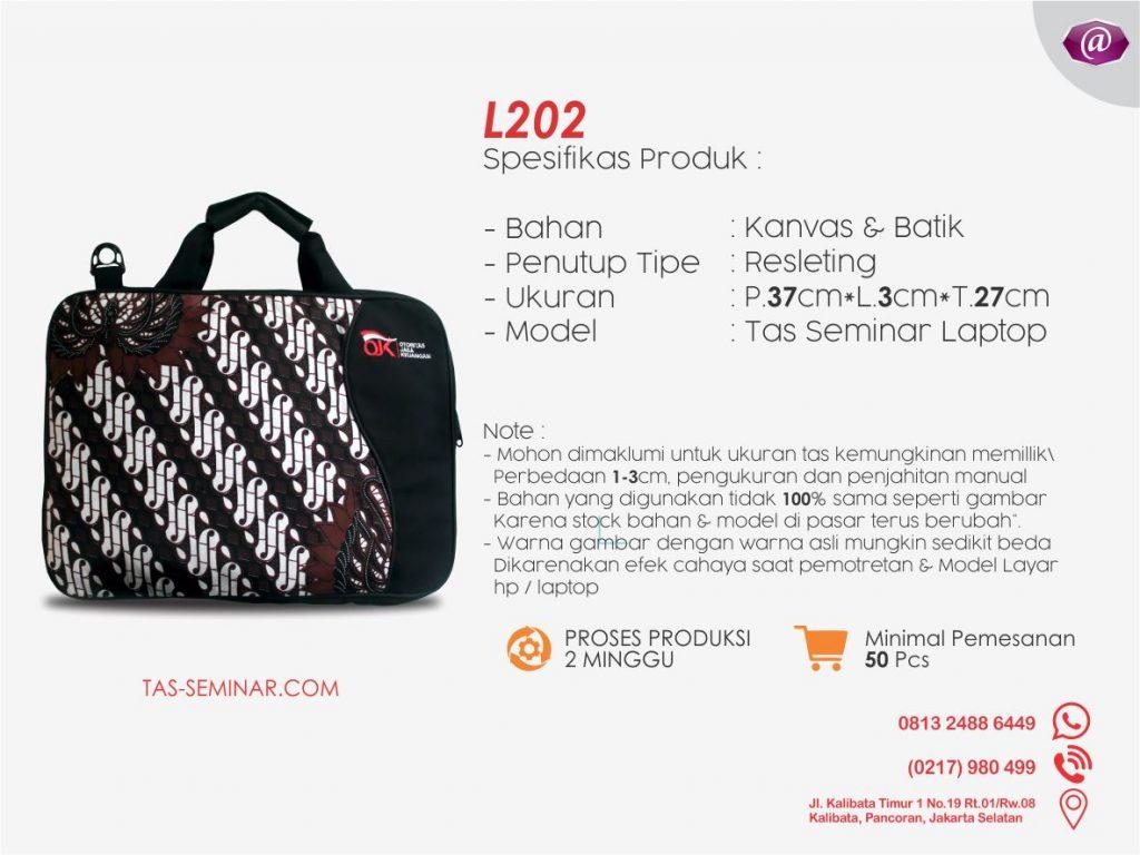 tas seminar laptop l202 grosir tas seminar jakarta murah