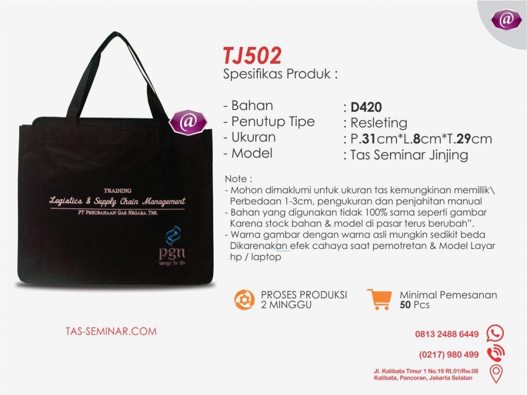 deskripsi tas seminar jinjing TJ502 produsen tas seminar jakarta