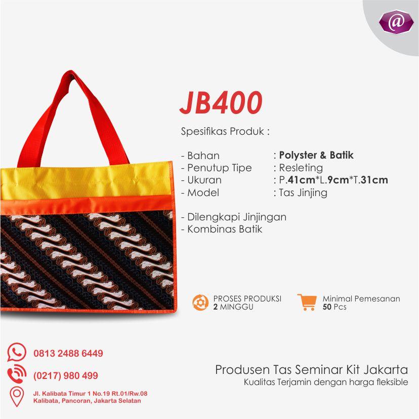 deskripsi tas seminar jinjing batik JB400 pabrik tas seminar jakarta