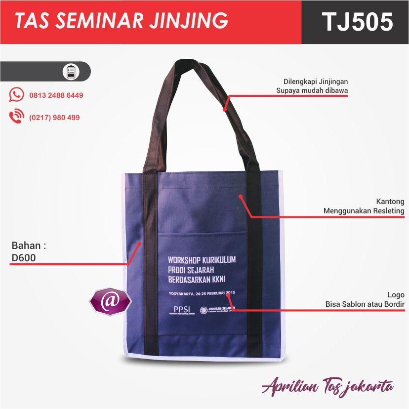detail tas seminar jinjing TJ505 grosir tas seminar jakarta