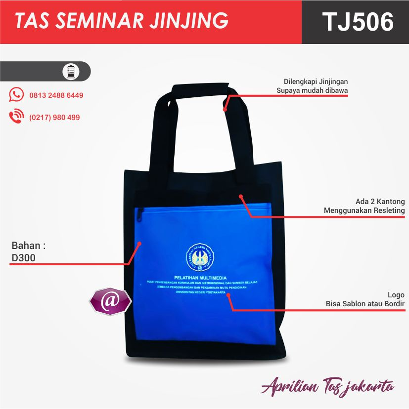 detail tas seminar jinjing TJ506 pabrik tas seminar jakarta