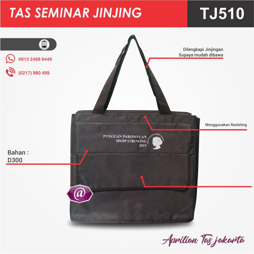 detail tas seminar jinjing TJ510 pabrik tas seminar jakarta