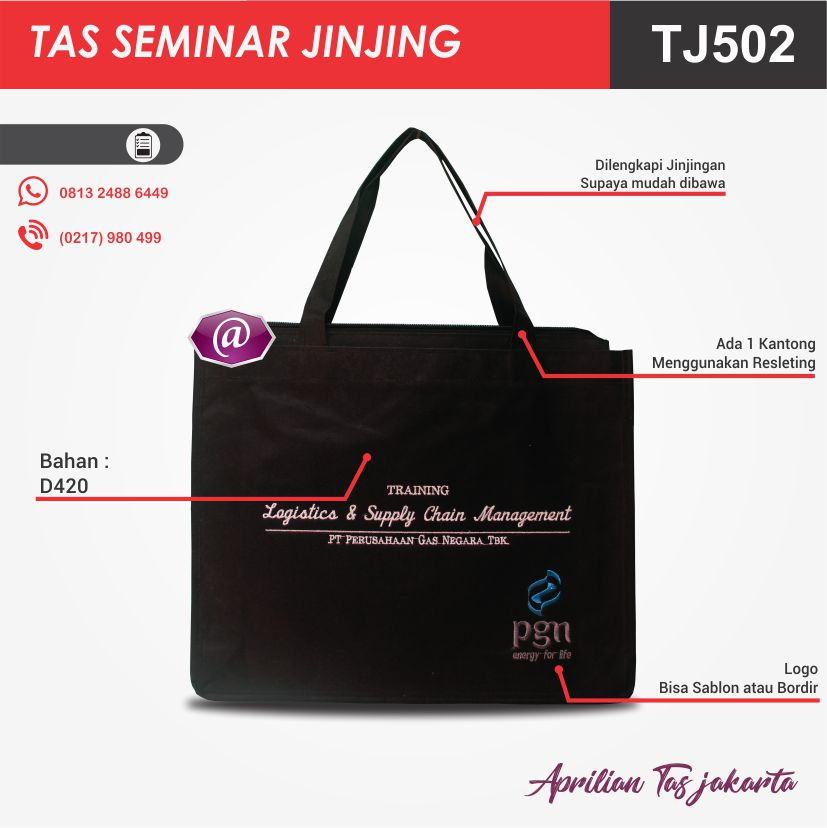penjelasan tas seminar jinjing TJ502 grosir tas seminar jakarta