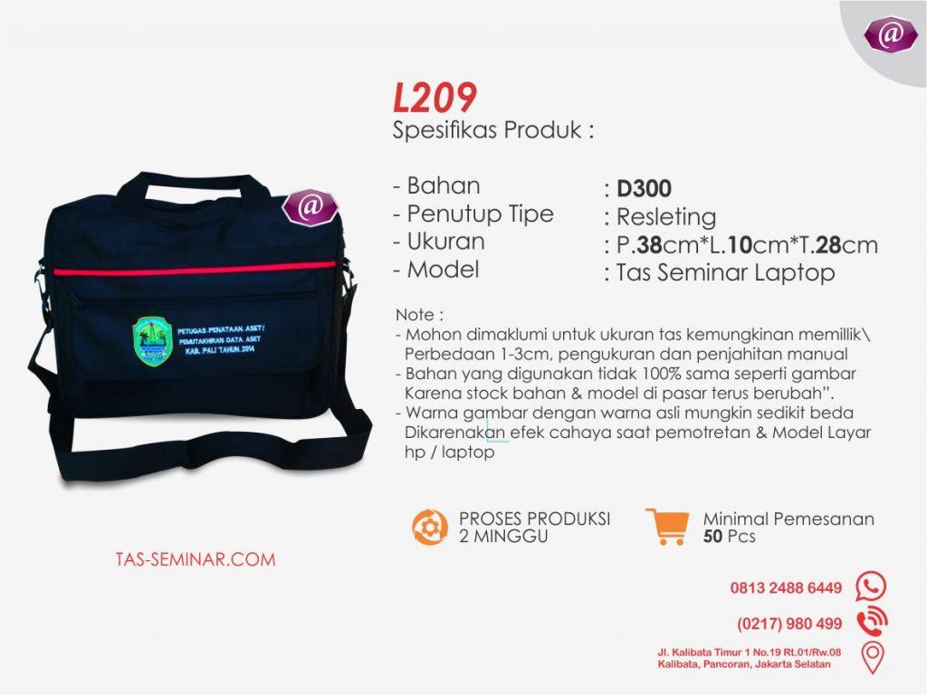 spesifikasi tas seminar laptop l209 konveksi tas seminar jakarta