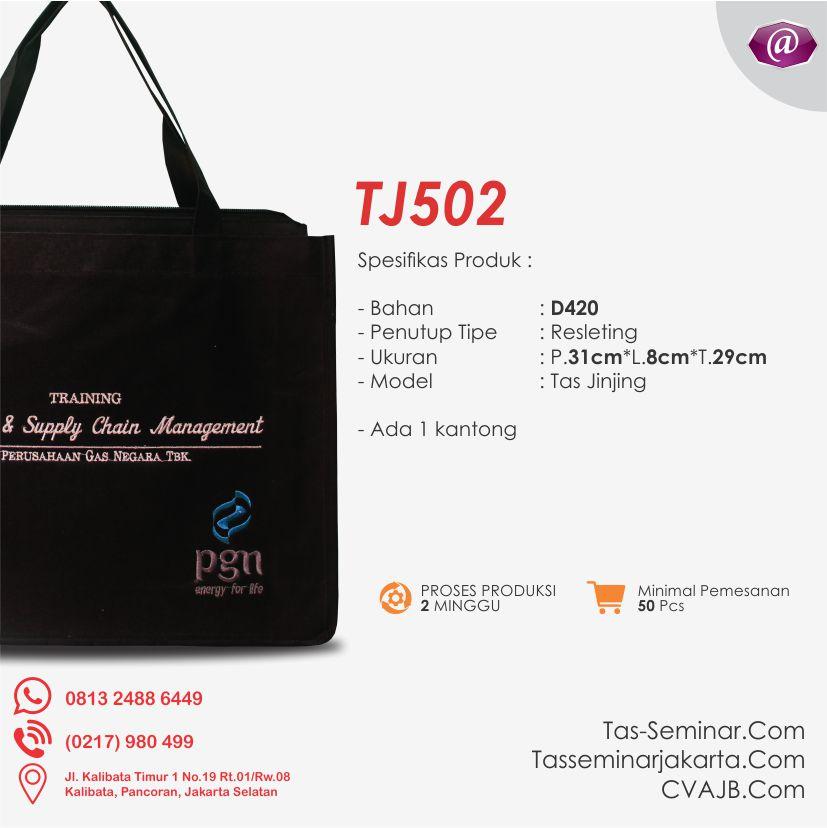 spesifikasi tas seminar jinjing TJ502 konveksi tas seminar jakarta