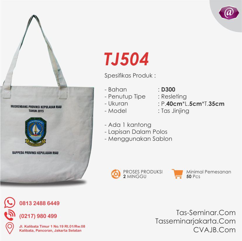 spesifikasi tas seminar jinjing TJ504 konveksi tas seminar jakarta