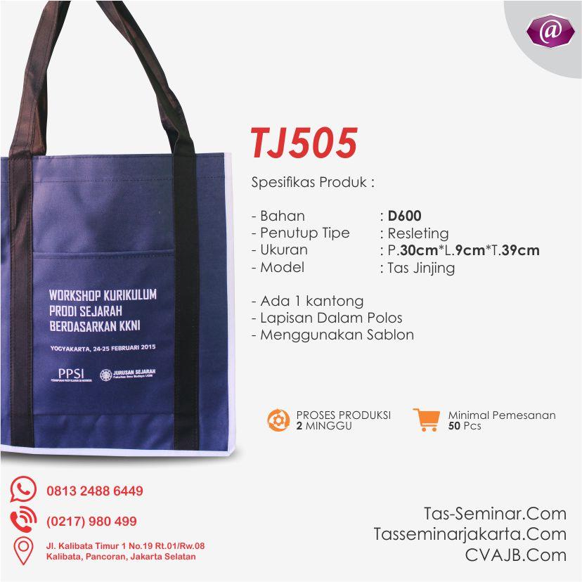 spesifikasi tas seminar jinjing TJ505 pabrik tas seminar jakarta