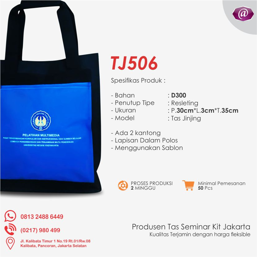 spesifikasi tas seminar jinjing TJ506 grosir tas seminar jakarta