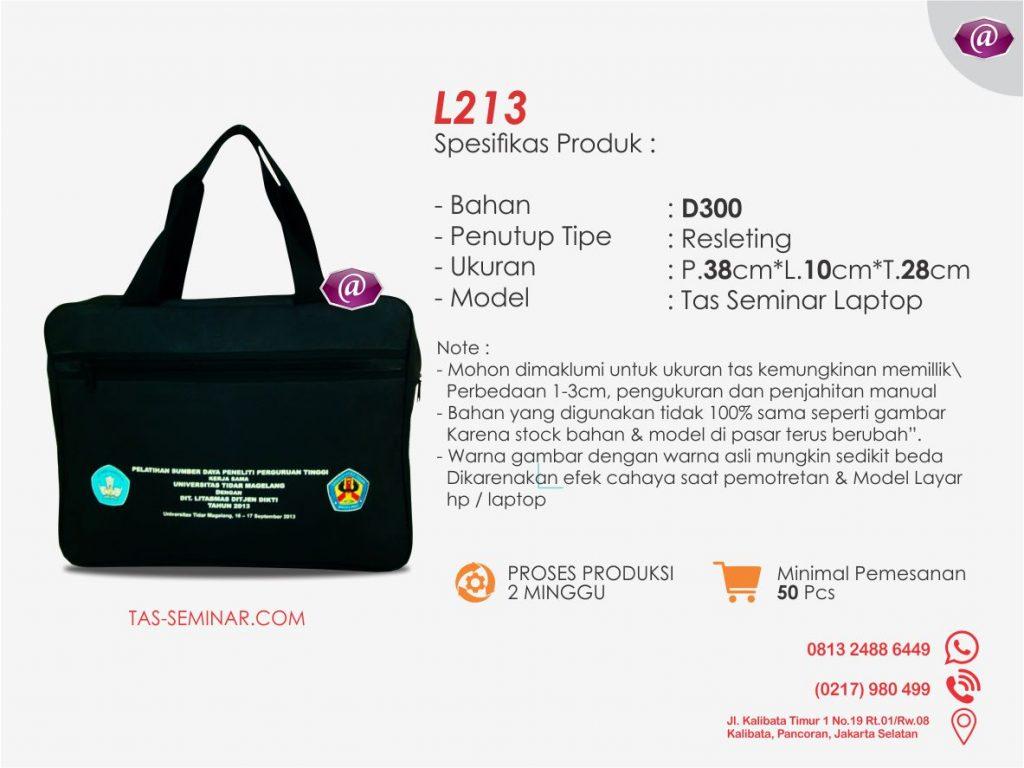 spesifikasi tas seminar laptop l213 grosir tas seminar jakarta