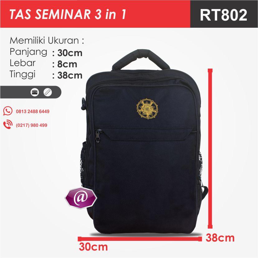 ukuran tas seminar 3 in 1 RT802 pabrik tas seminar jakarta