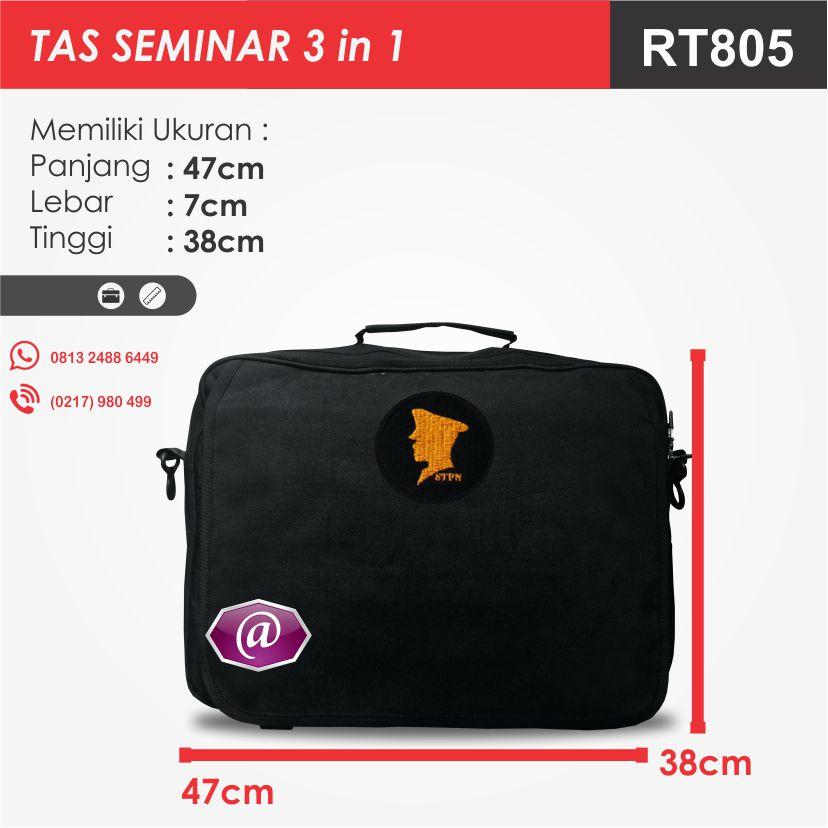 ukuran tas seminar 3in1 rt805 grosir tas seminar jakarta