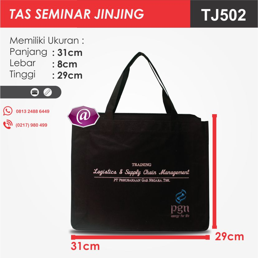 ukuran tas seminar jinjing TJ502 pesan tas seminar jakarta