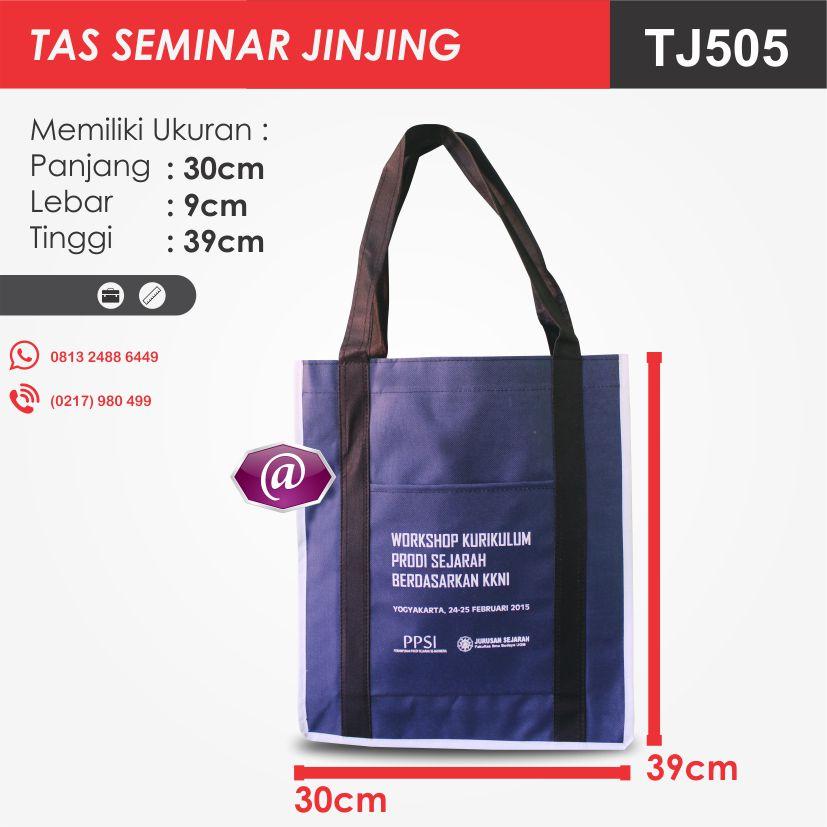 ukuran tas seminar jinjing TJ505 pesan tas seminar jakarta