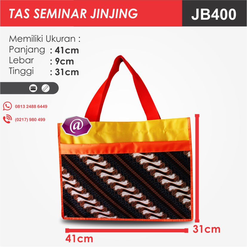 ukuran tas seminar jinjing batik JB400 pesan tas seminar jakarta