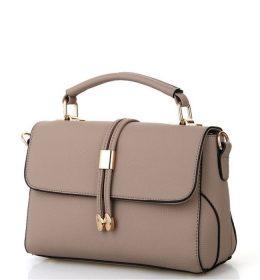 tas lempang untuk wanita warna abu dan hiasan emas dan aksesoris