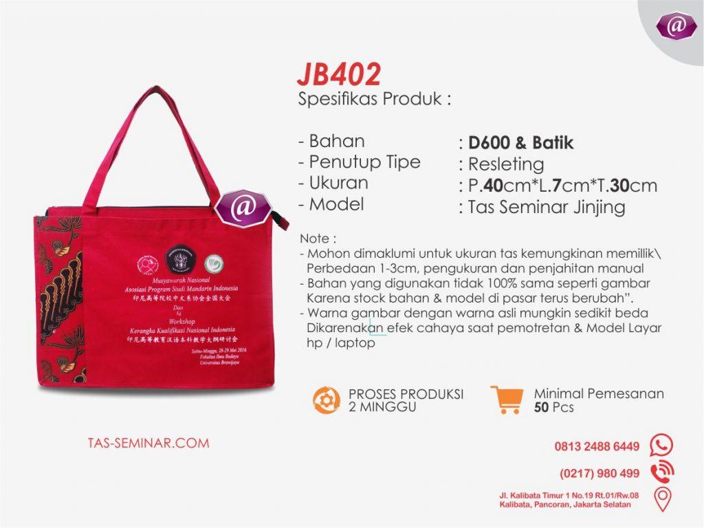 deskripsi tas seminar jinjing batik JB402 konveksi tas seminar jakarta