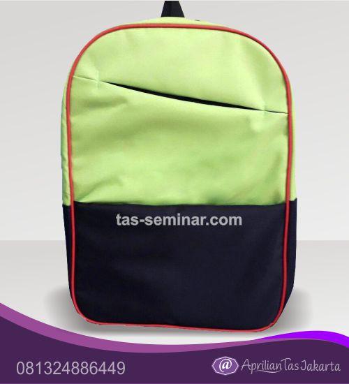 tas seminar, Tas Backpack Hijau Mudah Hitam