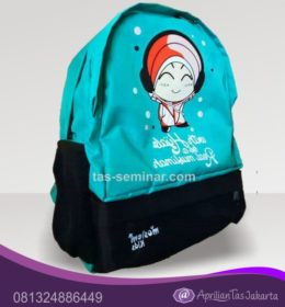 Tas Backpack Kombinasi Bahan 2 Warna
