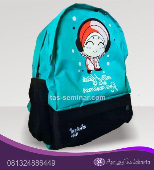 Tas Backpack Kombinasi Bahan 2 Warna