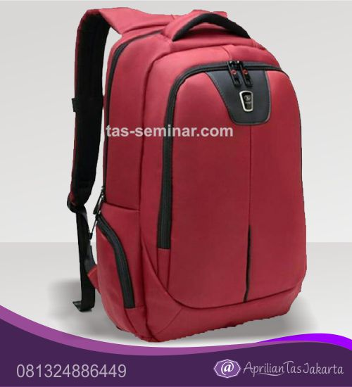 tas seminar, tas souvenir Tas Punggung Berkualitas Merah Maron