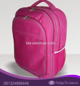 tas seminar Tas Ransel Laptop Pink 4 Kantong Resleting
